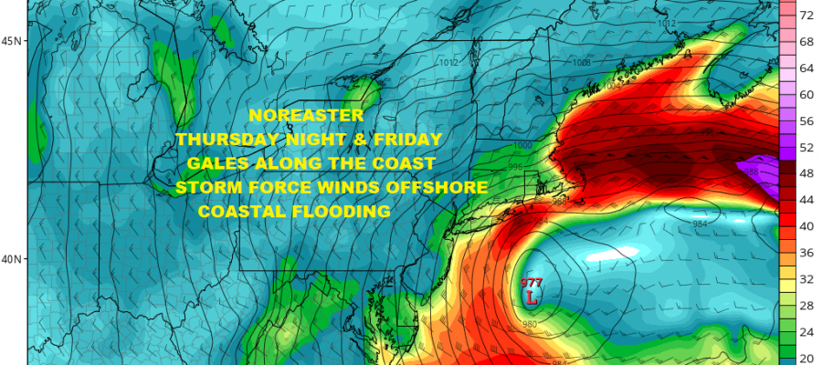 Nice Weather Before Late Week Noreaster Rain Wind Coastal Flooding & Snow?