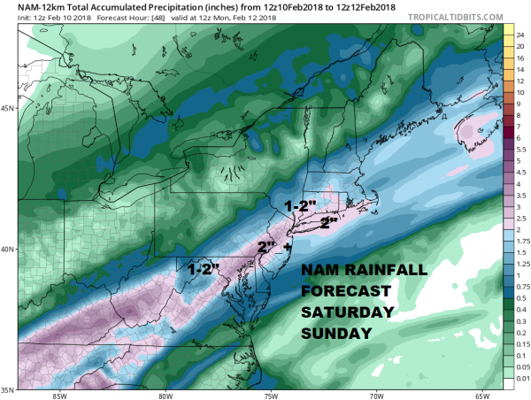 Rainy Weekend Underway Fat Tuesday Ash Wednesday Valentine's Day Outlook