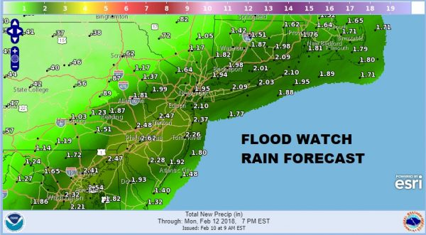 Flood Watch New Jersey Southeast Pennsylvania Maryland Delaware