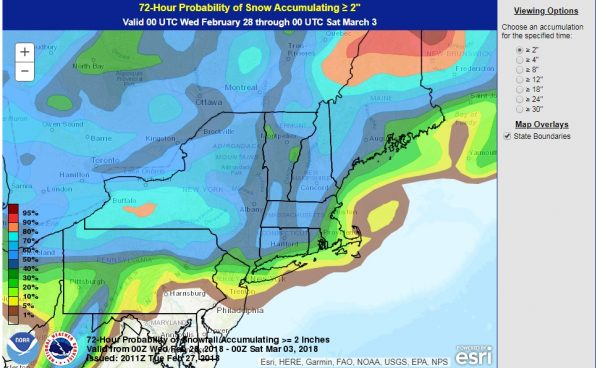 Noreaster Snow Forecast Maps First Call National Weather Service