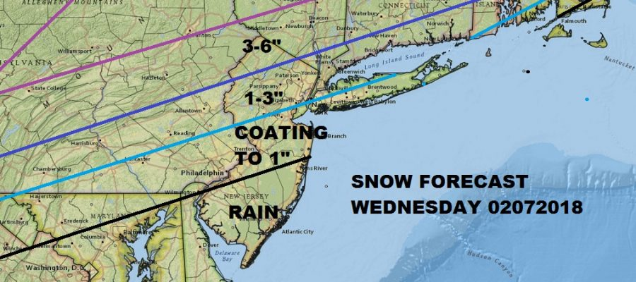 Snow Forecast Wednesday 02072018