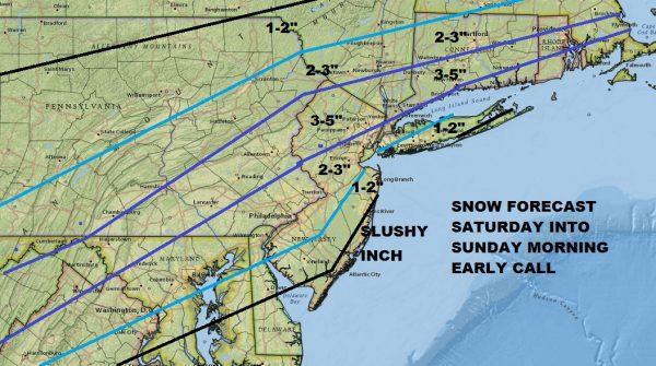 Snow Forecast Saturday Into Sunday Morning
