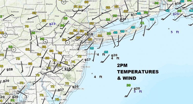 Springlike 70s Central South Jersey 40s Eastern Long Island
