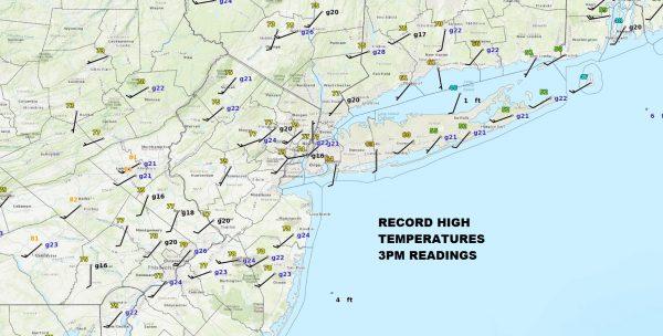 Record Highs Colder Air Freezing Rain Sleet Thursday Inland