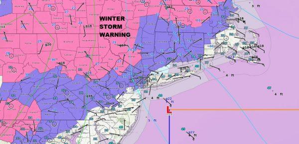 Ice Storm Underway Inland