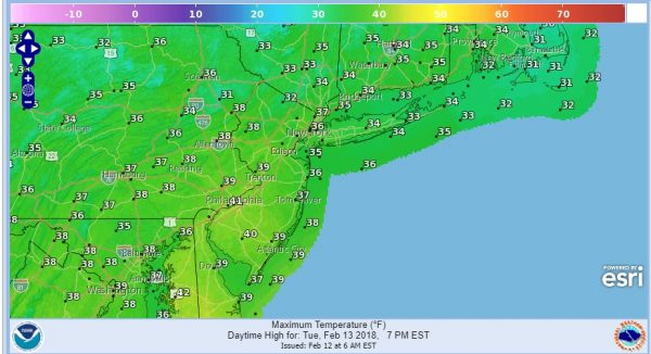 Cold Shot Moves Out 60s Thursday