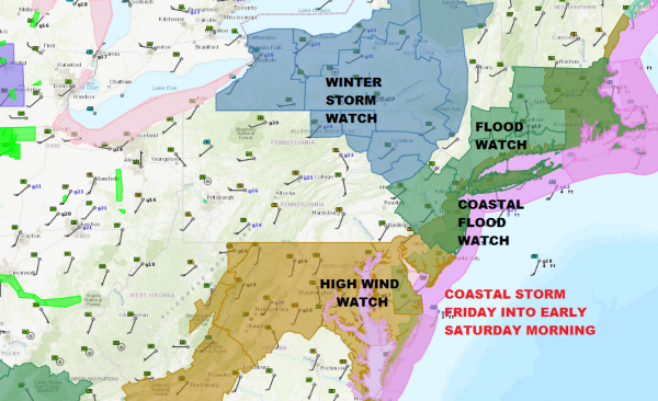 Heavy Wet Snow Possible Inland Elevated Areas