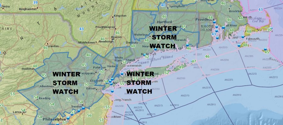 Winter Storm Watch Late Saturday Early Sunday Morning