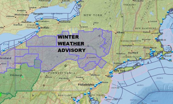 Winter Weather Advisory NE Pennsylvania NW New Jersey Catskills