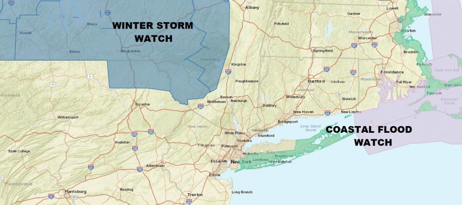 Coastal Flood Watch Long Island Noreaster Friday Saturday