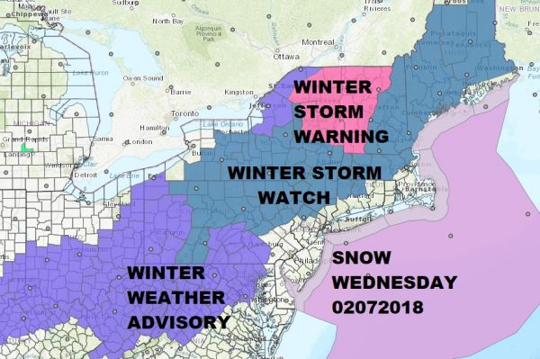 Snow Ice Forecast Winter Storm Watch Wednesday 02072018