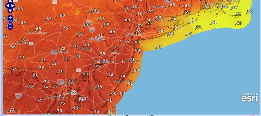 Springlike Temperatures Tuesday Wednesday