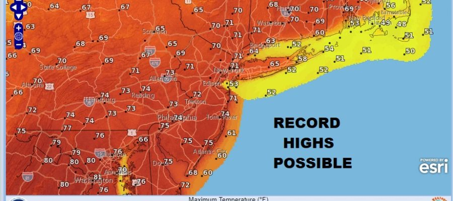 Record Highs Again Colder Thursday Freezing Rain Inland