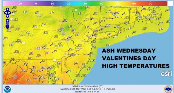 Valentines Day Melts Hearts 50s Thursday 60s Weekend Snow?