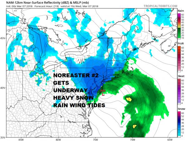 National Weather Service Snow Forecast Wednesday O3062018