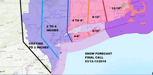 Winter Storm Warning Winter Weather Advisory Noreaster 3 Snow Forecast