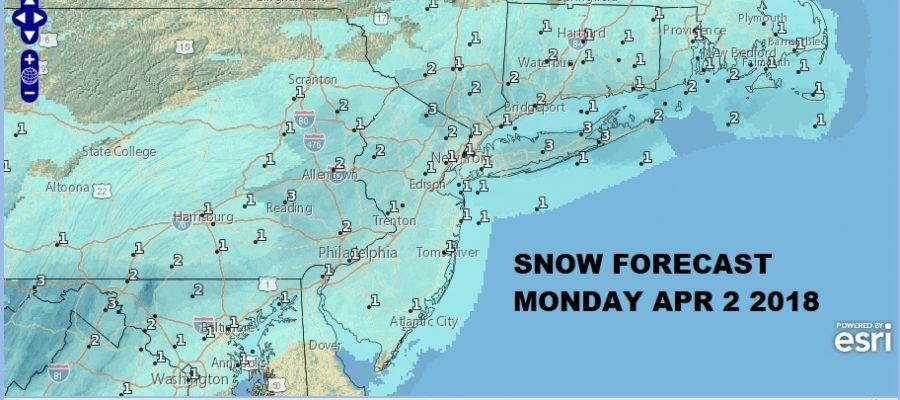 Snow Forecasts Monday April 2 2018 National Weather Service