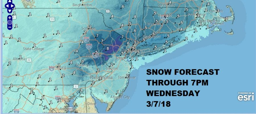 Snow Forecast Maps Updated Wednesday 03072018
