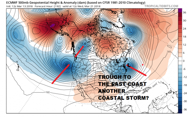 Blocky Pattern Continues Spring Arrives With Another Storm System