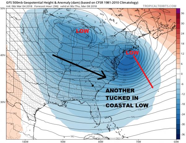 Coastal Storm Lingers Next Storm System Wednesday