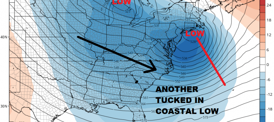 Coastal Storm Lingers Next Storm System Wednesday