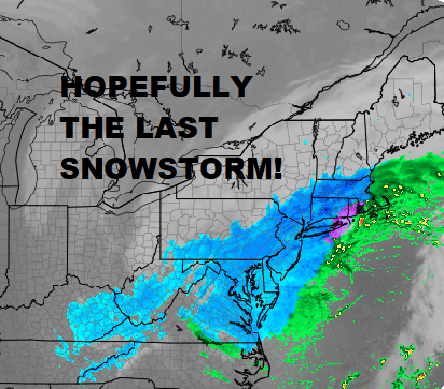 Winter Storm Warning Washington DC To Boston #Springwinterstorm