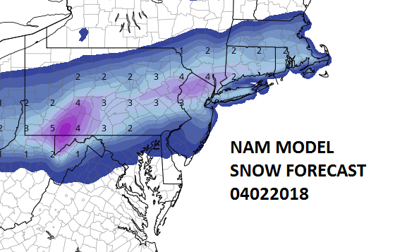 Snow Forecasts Raised Higher Across New Jersey to Southern New England