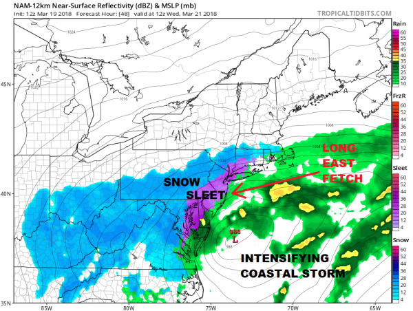 Weather Models Aggressive For Middle Atlantic & Northeast Tuesday Wednesday