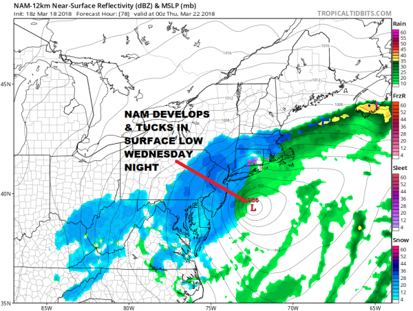 Weather Models Zeroing In On Second Low Verses The First