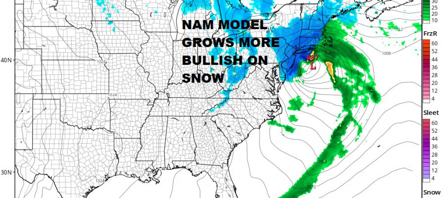 Snow Forecast Maps Wednesday 03072018