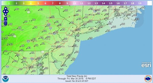 Passover Easter Sunday Weekend Outlook