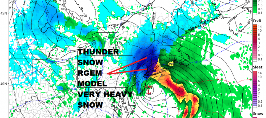 Major Noreaster Heavy Snow Wind Rain Coast On The Edge