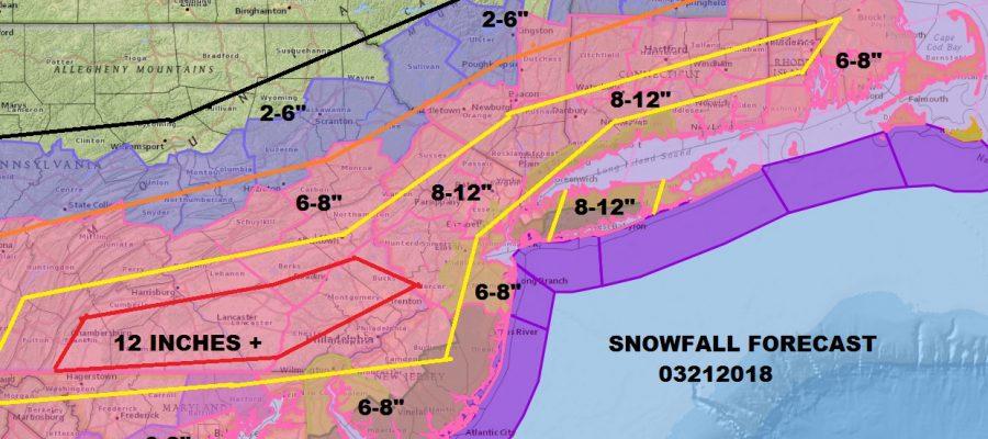 Winter Storm Warning Washington DC To Boston #Springwinterstorm Raising Snow Estimates Across The Area Winter Storm Warning 03212018
