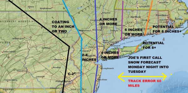 3rd Noreaster In 10 Days First Call Snow Forecast