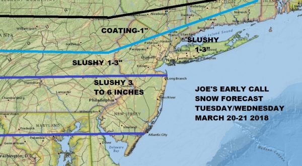 Snow Threat More South & East NYC Watching Second Storm Offshore