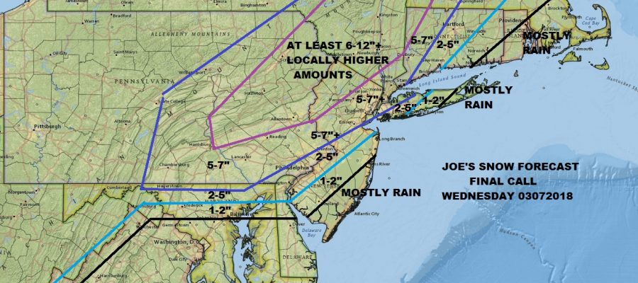 Snow Forecast Final Call Wednesday March 7 2018
