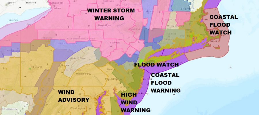 Winter Storm Warnings Snow Forecast Maps