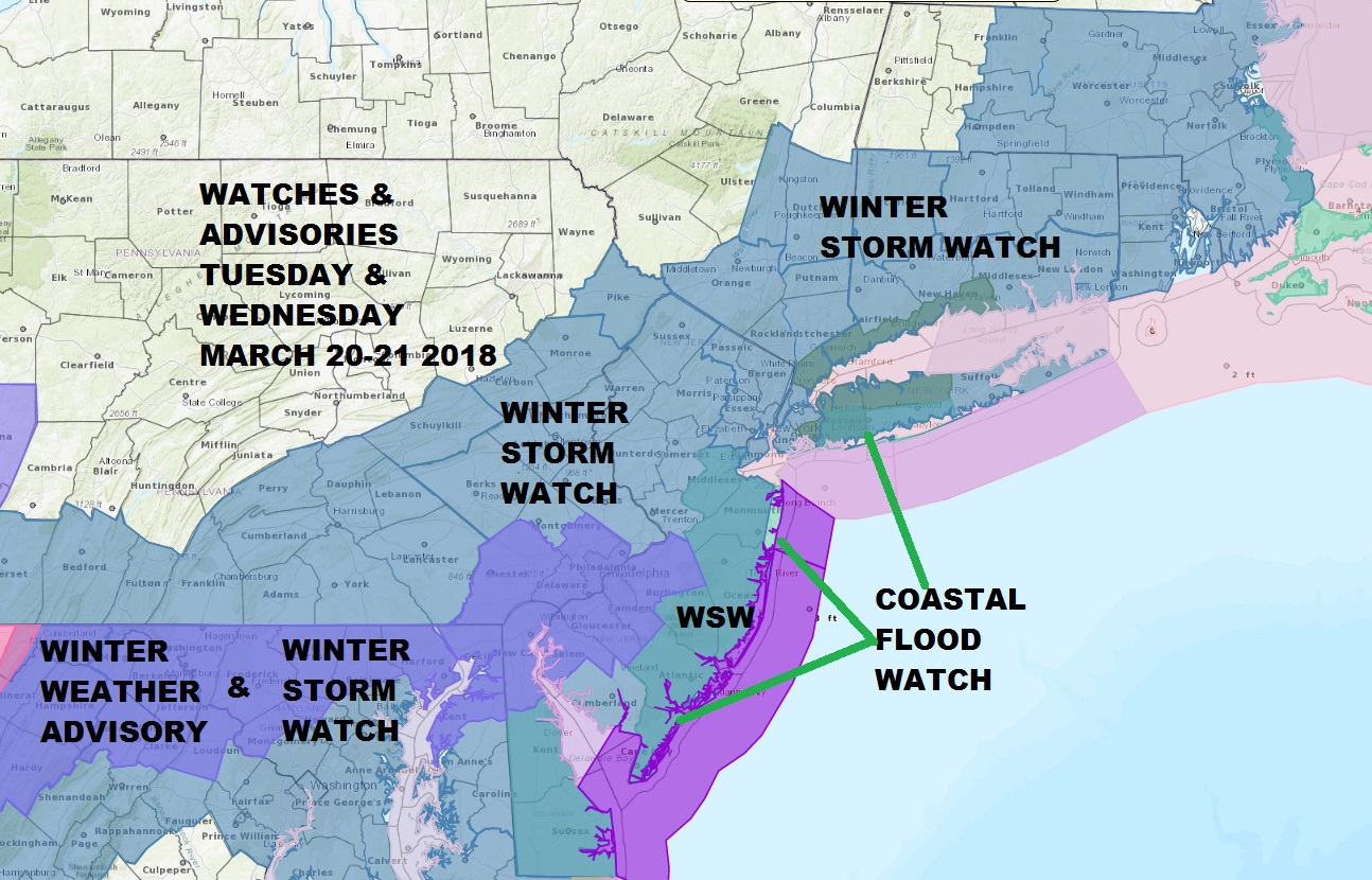 Winter Storm Watch National Weather Service Snow Forecast Maps ...