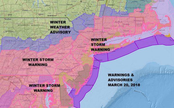 Raising Snow Estimates Across The Area Winter Storm Warning 03212018