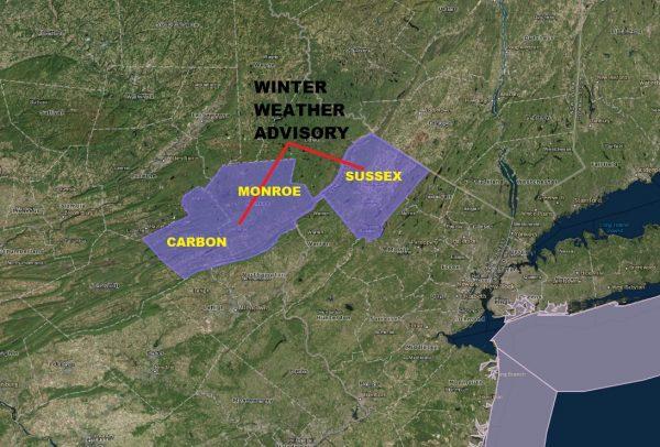 Winter Weather Advisory NW New Jersey NE Pennsylvania Freezing Rain