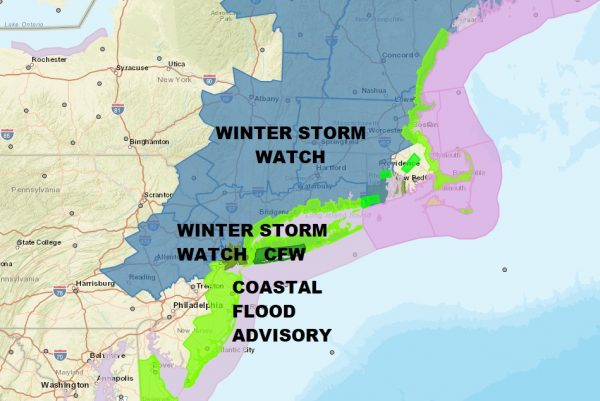Noreaster Part 2 Joe's Snow Forecast Map 03072018 Winter Storm Watch Wednesday Coastal Storm On Course
