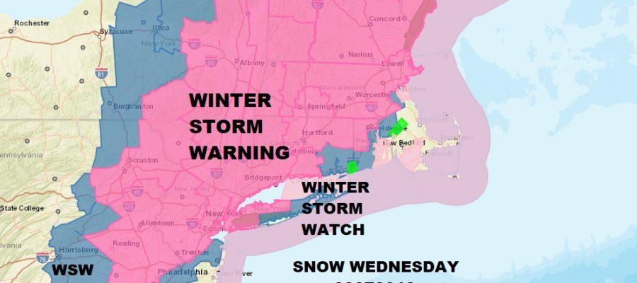 Winter Storm Warning Eastern Pennsylvania NYC Philadelphia Southern New England
