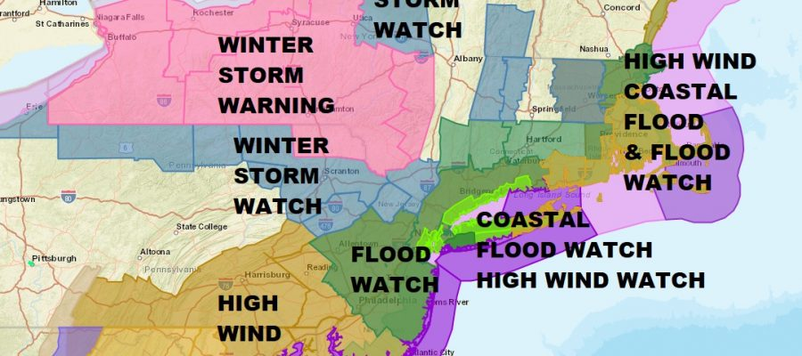 Snow Forecast Watches Warnings Major Coastal Storm