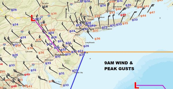 Fierce Noreaster Winds Increasing Rain Changes To Snow Inland