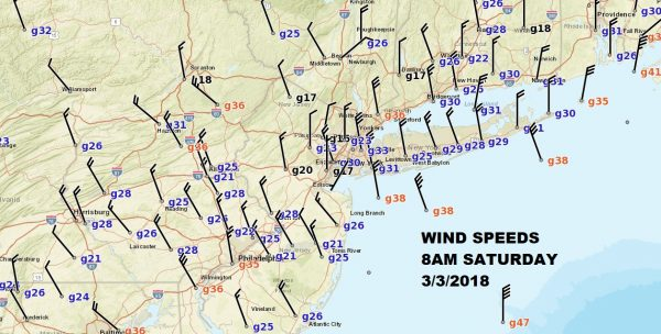 WINDS GUSTY SLOW IMPROVEMENT COASTAL STORM DEPARTS