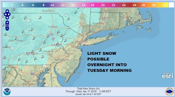 Some Light Snow Overnight Into Tuesday Morning