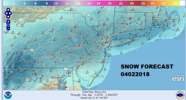 Easter Sunday Sunshine Winter Weather Advisory Overnight Monday