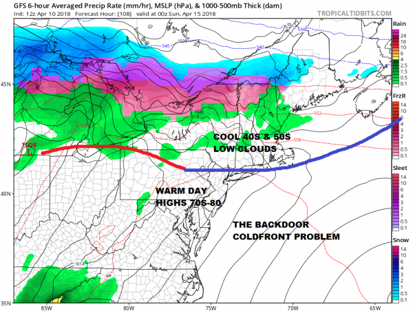Warm Spring Temperatures But Watch The Backdoor Cold Front