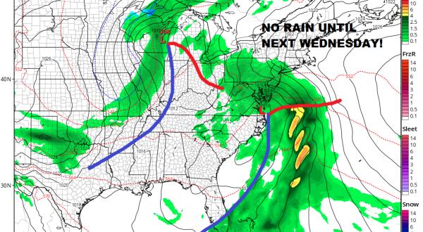 Weekend Forecast Looks Good Rain Free Until Next Wednesday