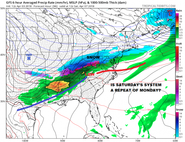 Severe Weather Threat Wednesday New Jersey Southward Cold Air Double Lows Busy Pattern Continues